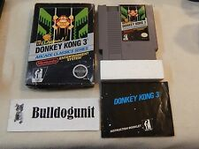 Donkey Kong 3 Complete in Box NES Game Black Box Arcade Series