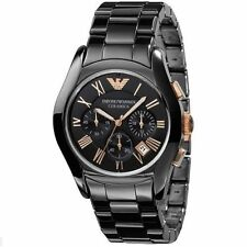 Emporio Armani Watch For Men AR1410 Ceramica Chronograph Black Dial Wrist Watch