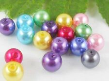 100Pcs Mixed Lightful Glass Pearl Round Spacer Beads 6mm