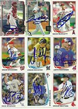 2013 Topps JUSTIN MASTERSON Signed Card auto INDIANS autograph AUTO all star gam