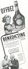 ▬► PUBLICITE ADVERTISING AD BENEDICTINE LIQUEUR D.O.M 1938