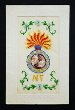 WW1 Silk Postcard The Royal Northumberland Fusiliers Soldier Regiment