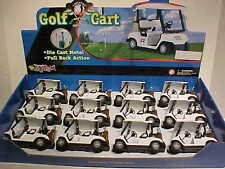 Pack of 12 Golf Carts Die-cast 1:24 Kinsmart 5 inch with Golf bags WHITE # 22