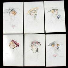 Serie 6 cartoline ART DECO n 108 firmate illustratore ZANDRINO