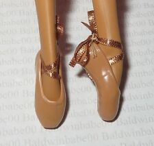 *SHOES ~ BARBIE DOLL MISTY COPELAND MODEL MUSE TAN POINT TOE BALLET SLIPPERS