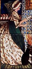 William Morris February Valentines Day 2 Tile Panel Kiln Fired Great Exhibition