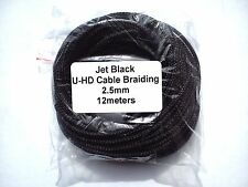 Cable Modders Expandable Braided Sleeving Jet Black 2.5mm x 12m