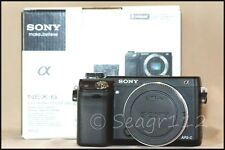 Sony Alpha NEX 6 16.1 MP  ILCE E Mount Black Camera Body - LNIB - Low Shutter