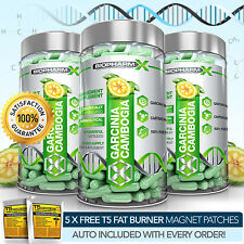 GARCINIA CAMBOGIA PILLS X3: MAX STRENGTH SLIMMING / DIET & WEIGHT LOSS PILLS