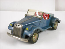 Vintage Japan Tin SSS MG Midget Friction Powered Toy Car