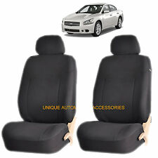 BLACK ELEGANT AIRBAG COMPATIBLE FRONT SEAT COVER SET for NISSAN ALTIMA SENTRA