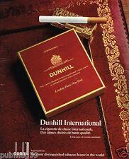 Publicité Advertising 1972 Les Cigarettes Dunhill