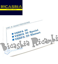 7115 - LIBRETTO USO E MANUTENZIONE RIPRODUZIONE VESPA 50 SPECIAL - ELESTART