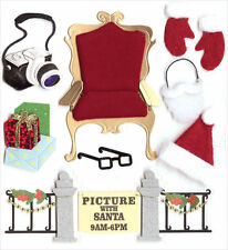 Picture With Santa Mall Camera Christmas Jolee's 3D Stickers