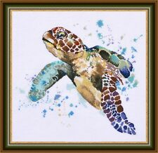 "Counted Cross Stitch Kit OVEN - ""Sea turtle"""