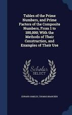 Tables of the Prime Numbers, and Prime Factors of the Composite Numbers, from...