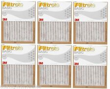 "6-PK 16""x20""x1"" 3M Filtrete MPR Rating 250 Pleated Air Furnace Filter 182001x6"