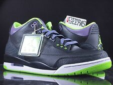 Nike Air Jordan 3 iii Retro Joker 136064 018 DS Sz 14 Black Green Purple Cement