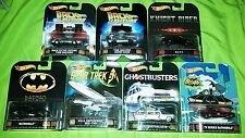 Hot wheels lot retro back to the future kitt batmobile ghostbusters star trek +