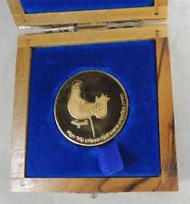 "Israel 1976 MARC CHAGALL ""KING DAVID"" 6th HARP CONTEST 35mm 30g GOLD MEDAL RARE!"