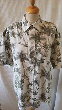 1940s 1950s Stile Rockabilly Camicia Hawaiana da Uomo Taglia M
