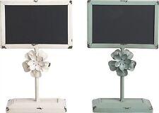 """1st White Metal Flower Chalkboard Message Board 9.75"""" (1 board only)"""