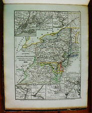 1849 MEYER'S ZEITUNGS-ATLAS=GEOGRAPHICAL MAP: USA,NEW YORK,PENSILVANIA,MARYLAND.