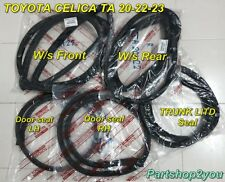 Toyota CELICA TA20 TA22 TA23 RA21 SET winshield seal & door weather strip 5 pcs