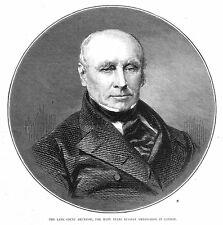 Count Ernst Philipp Brunnow Russian Ambassador in London - Antique Print 1875