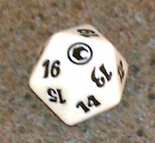 1 White SPINDOWN Die Scars - 20 sided Spin Down Dice MtG Magic the Gathering