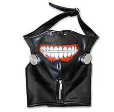 1PCS Cosplay Tokyo Ghoul Kaneki Ken Adjustable Zipper PU Leather Mask Halloween