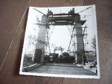 PHOTO 1940 CONSTRUCTION DU PONT DU TEIL RHONE BRIDGE DEPART TRONCON