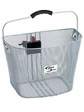 Sport Direct™ Bicycle Bike Carry Basket Luggage Silver