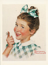 (P033) Postcard - Norman Rockwell - Girl with String