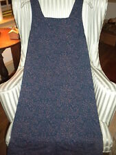 "NWT!FRESH PRODUCE ""HARVEST "" DESIGN SQUARE CUT NECK DRESS ON  S.BEACH BLUE  (L)"