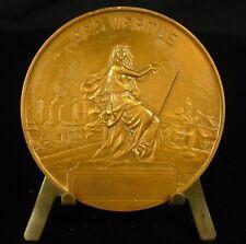 Médaille la femme pendant le guerre Sacrifices par Allouard 1918 60mm 85g  Medal