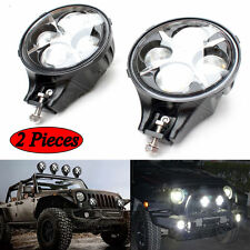 2pcs CREE Round 6inch 60W LED Light White 'X' DRL for Jeep Wrangler Offroad 4X4