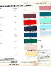 1958 NASH HUDSON RAMBLER AMBASSADOR CLASSIC METROPOLITAN 58 PAINT CHIPS DUPONT 5
