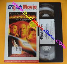 film VHS ARMAGEDDON GIUDIZIO FINALE 1999 ENGLISH MOVIE Bruce Willis(F107) no dvd