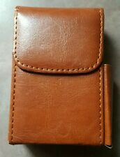Eclipse Leather Brown 100's Flip Cigarette With A Pocket For A Lighter