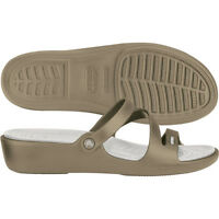 Crocs Patricia Wedge Khaki / Oyster Womens Size 6 7 8 9 10 11 12 $40 SALE!!