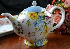 Katie Alice English Garden Porcelain 6 Cup Teapot - Floral and Spotty