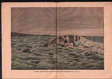 Shipwreck Naufrage Voilier Lac de Bizerte Lake Tunisia Tunisie 1906 ILLUSTRATION
