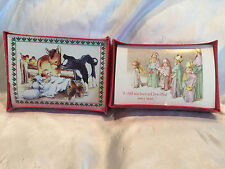2 Boxes 20/25 Cards Holiday Classics Greetings Christmas Cards Nativity Scene