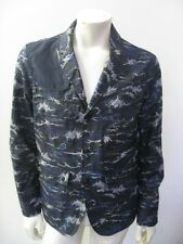 Barbour x White Mountaineering WAVE PRINT LAPEL JACKET Waxed Cotton Size LARGE