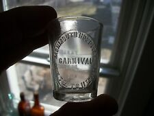 SCARCE MONMOUTH HOSPITAL CARNIVAL OCT 7-11TH 1902 MONMOUTH ILLINOIS DOSE GLASS