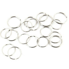 100PCS Silver Steel Key Rings Chains Split Ring Hoop Metal Loop Accessories 25mm
