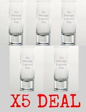 Personalised Engraved Shot Glass, Usher, Best Man, Groom, Wedding Gift X5 Deal