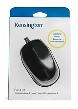 Kensington Pro Fit Wired Laser 1800 DPI Mouse PC 2 Buttons 1x Wheel USB NEW