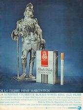 Publicité Advertising 1966 Cigarettes Black & White MARCOVITCH